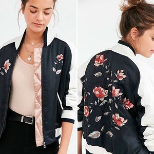 OU • Silence + Noise Floral Embroidered Bomber